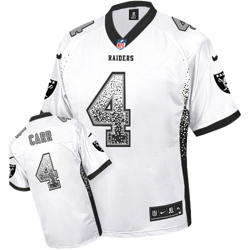 buy popular 9c4a0 a40b3 Nike Raiders #4 Derek Carr White Men's Stitched NFL Elite ...